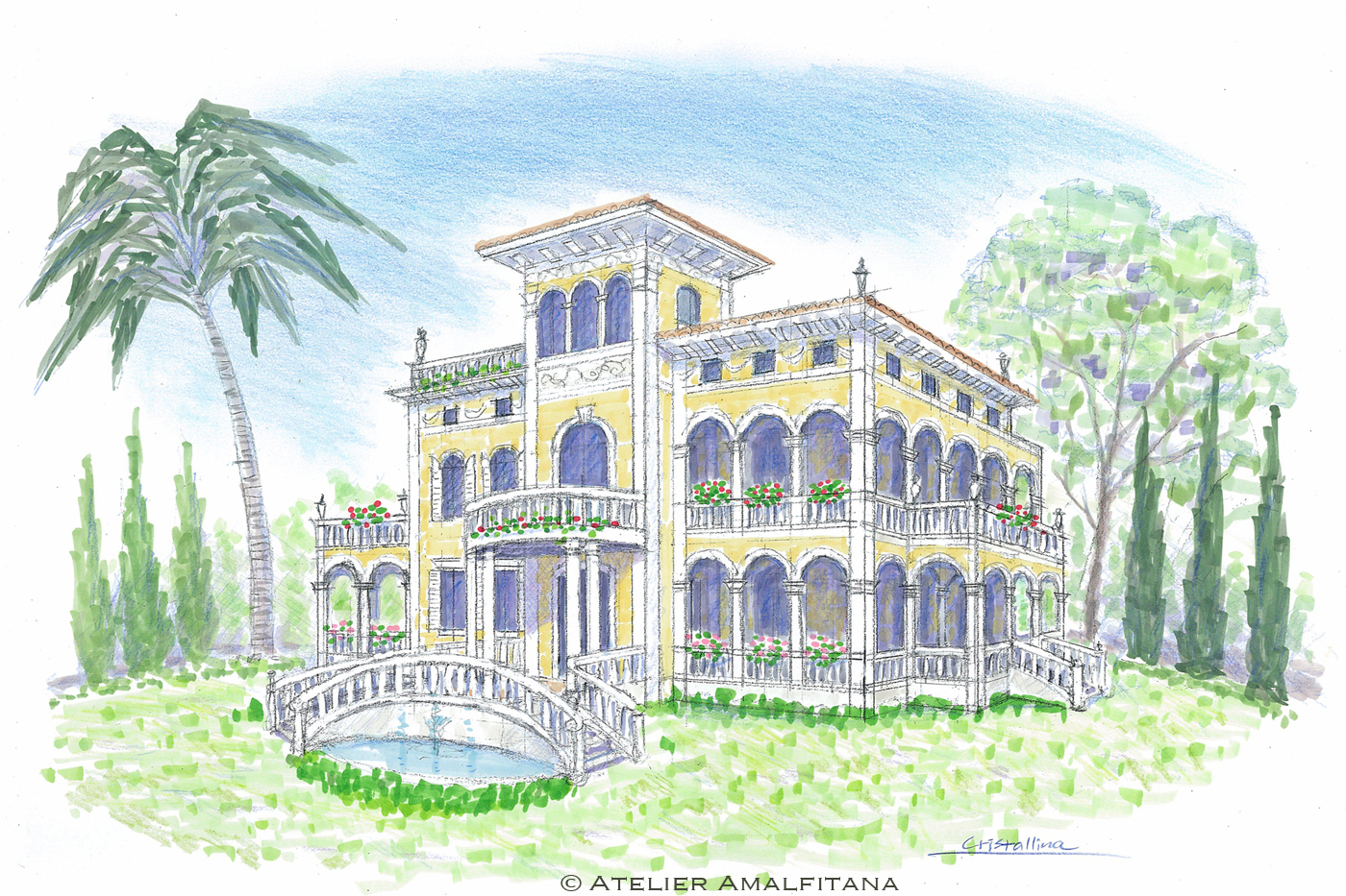 villa italiana sketch 1